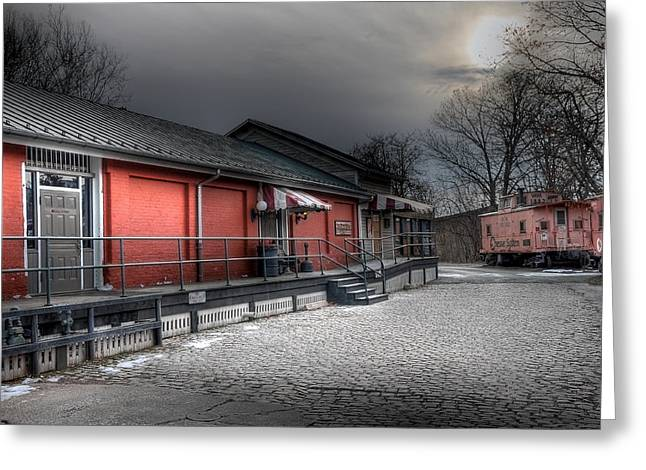 Train Depot Greeting Cards - Staunton VA Train Depot Greeting Card by Todd Hostetter