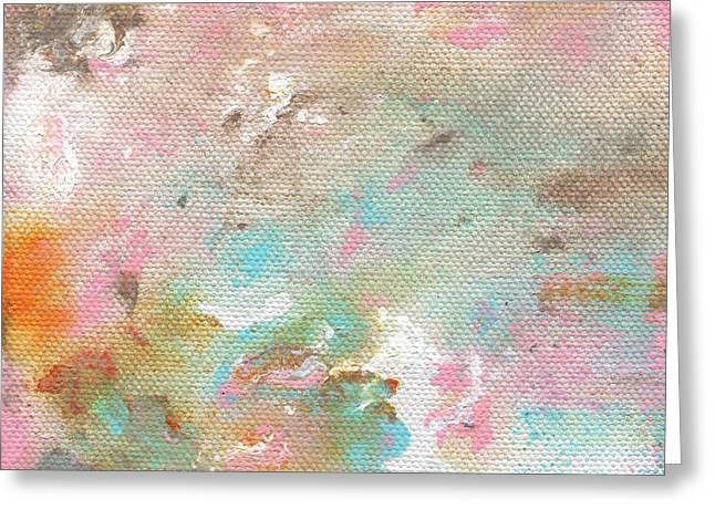Bedroom Art Greeting Cards - Stay- Abstract Art by Linda Woods Greeting Card by Linda Woods