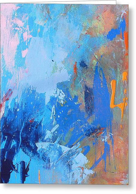 Prints Abstract Greeting Cards - Stay the Night Greeting Card by Jacquie Gouveia