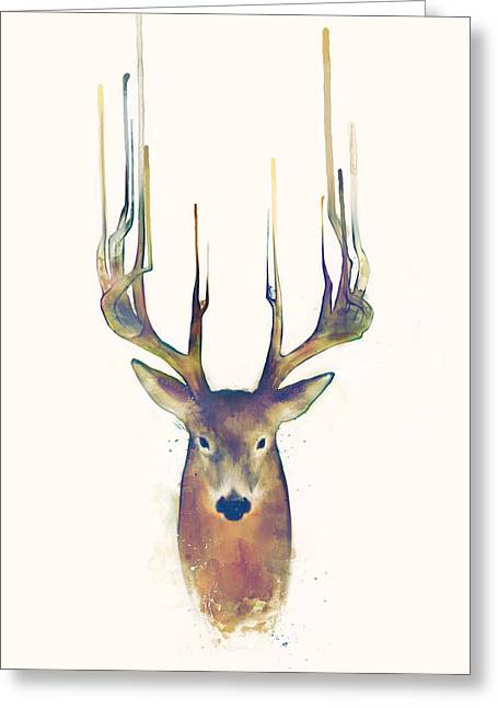 Steadfast Greeting Card by Amy Hamilton
