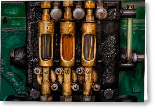 Lobe Greeting Cards - Steam Engine Oilers Greeting Card by Paul Freidlund