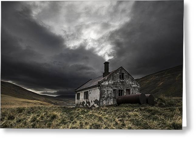 Abandoned House Greeting Cards - Steam Of Time Greeting Card by Bragi Ingibergsson - Brin