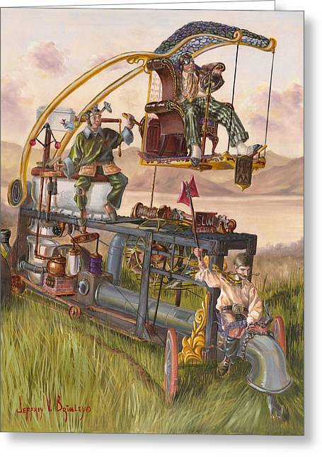 Steam Powered Rodent Remover Greeting Card by Jeff Brimley