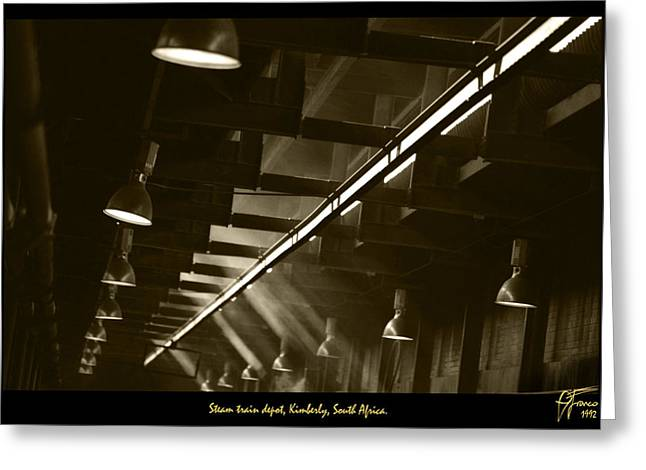 Shed Greeting Cards - Steam Train Shed Kimberly South Africa  Greeting Card by Vincent Franco
