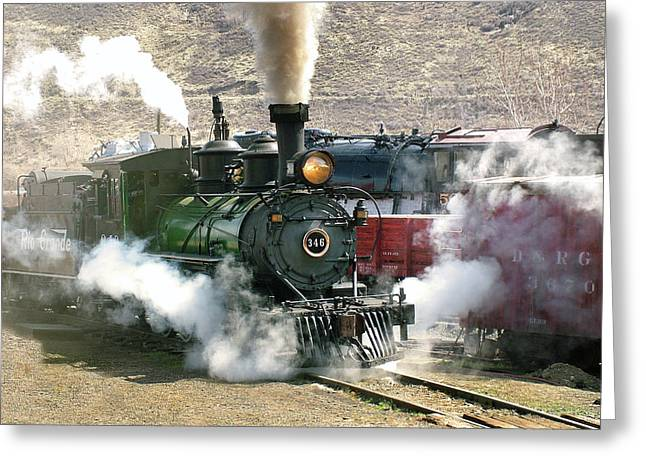 Colorado Railroad Museum Greeting Cards - Steam Up Greeting Card by Ken Smith