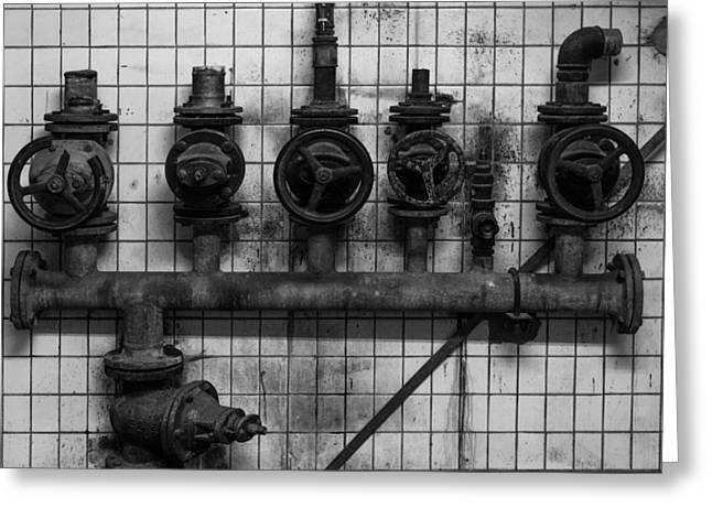 Industrial Concept Greeting Cards - Steam Valves Greeting Card by Dife88