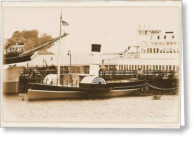 San Francisco Bay Greeting Cards - Steamer Greeting Card by Richard Squires