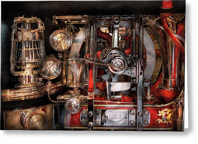 Steampunk - Check the gauges  Greeting Card by Mike Savad