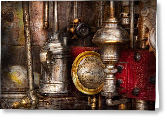 Steampunk - Needs oil Greeting Card by Mike Savad
