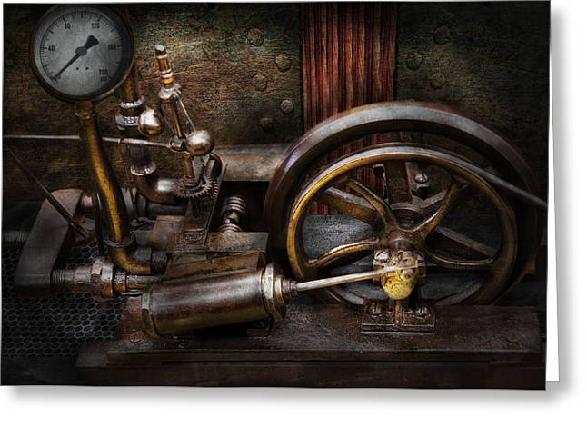 Mechanism Greeting Cards - Steampunk - The Contraption Greeting Card by Mike Savad