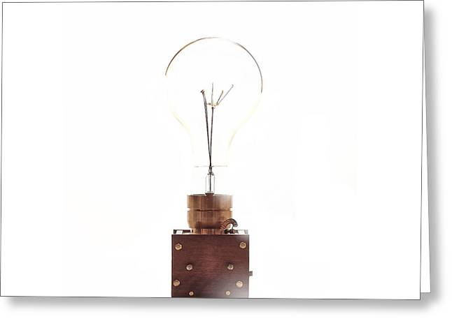 Edison Greeting Cards - Steampunk 08   1#10 Greeting Card by Heiko Hellwig