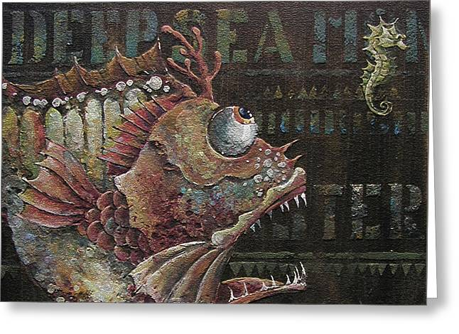 Decorative Fish Greeting Cards - Steampunk Fish C Greeting Card by Irina Pankevich