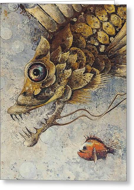 Decorative Fish Greeting Cards - Steampunk Fish E Greeting Card by Irina Pankevich