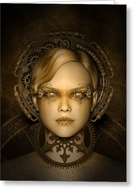 Steampunk Machine Greeting Card by Britta Glodde