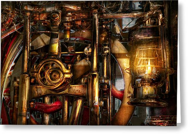 Steampunk - Mechanica  Greeting Card by Mike Savad
