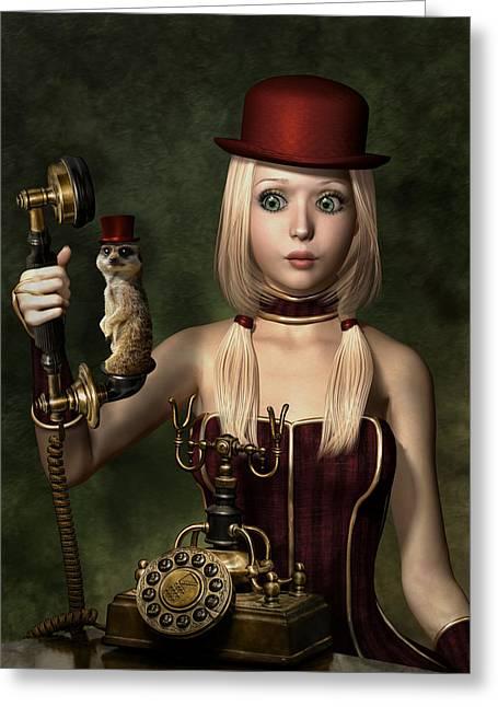 Steampunk Surprise Greeting Card by Britta Glodde
