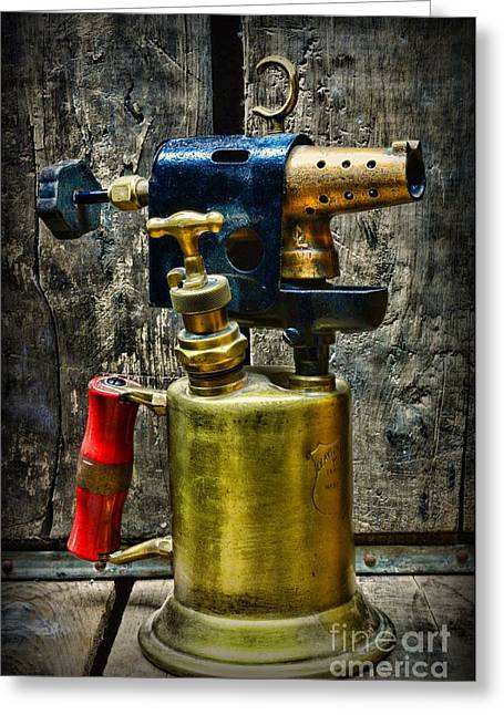 Steampunk Tool Of Fire Greeting Card by Paul Ward