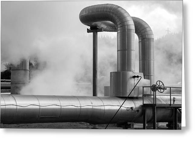Power Plants Greeting Cards - Steamy Greeting Card by Nicholas Blackwell