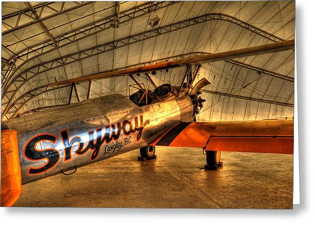 Stearman Greeting Card by Jason Evans