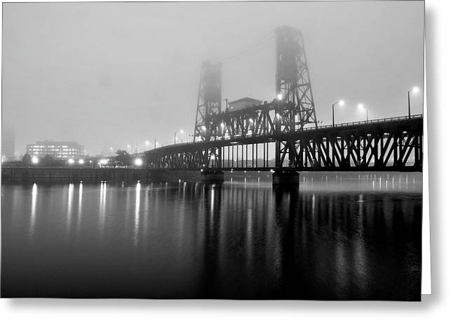 Willamette Greeting Cards - Steel Bridge Greeting Card by Brian Bonham
