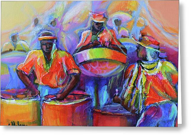 Steel Pan Carnival Greeting Card by Cynthia McLean