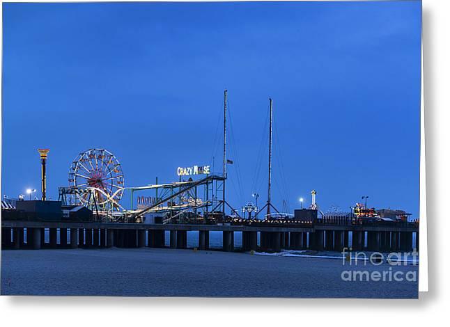 Steel Pier Greeting Cards - Steel Pier Greeting Card by John Greim