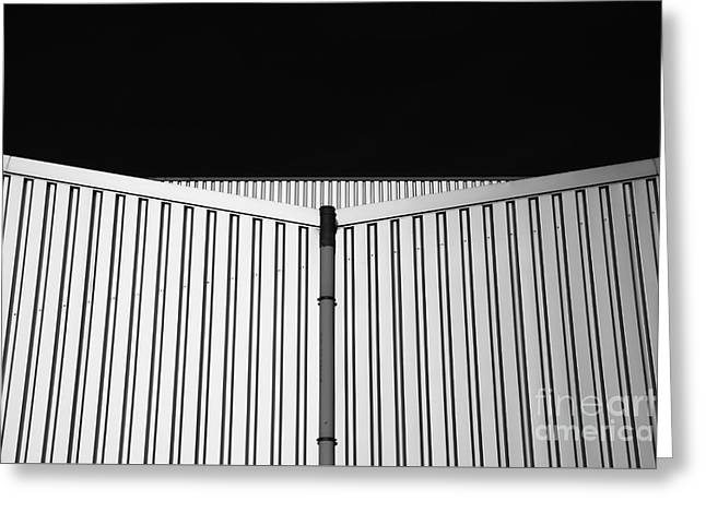 Steel Sheet Building Forms Greeting Card by Jan Brons