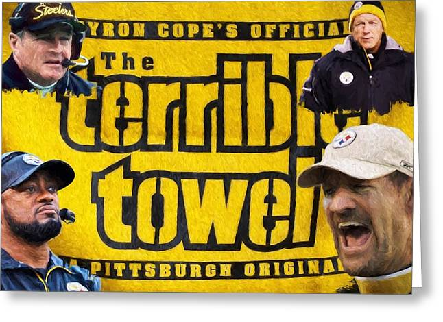 Steelers Tradition Greeting Card by Dan Sproul