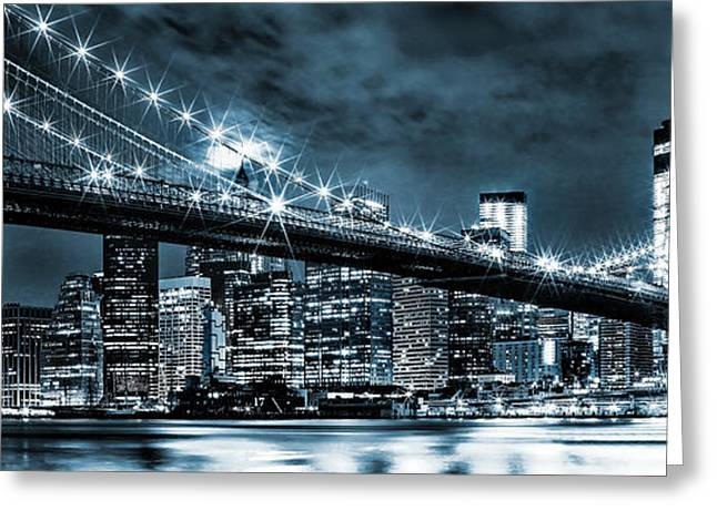Steely Skyline Greeting Card by Az Jackson