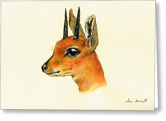 Steenbok Greeting Card by Juan  Bosco