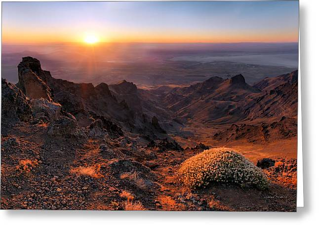 Steens View Greeting Card by Leland D Howard