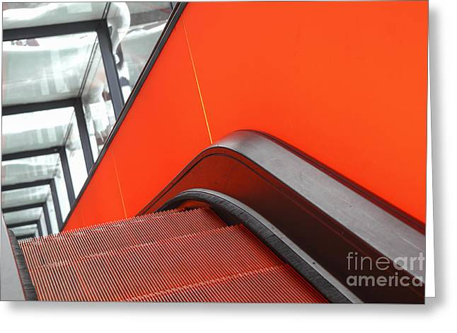 Automated Greeting Cards - Steep escalator Greeting Card by Patricia Hofmeester