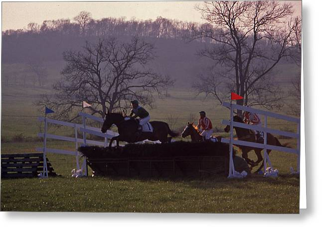Brentwood Tennessee Greeting Cards - Steeplechase - 2 Greeting Card by Randy Muir
