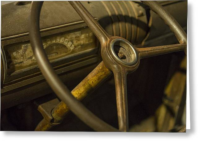 Steering Greeting Cards - Steering Wheel Greeting Card by Brad Hendron