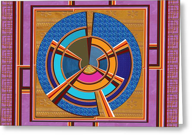Enterprise Mixed Media Greeting Cards - Steering Wheel for people in helms of affairs  Leaders Heads of Business Enterprises CEOs Presidents Greeting Card by Navin Joshi