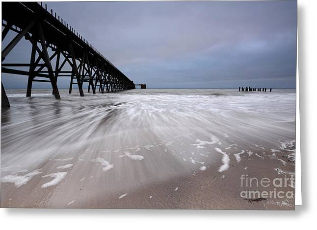Steetley Pier Greeting Card by Stephen Smith