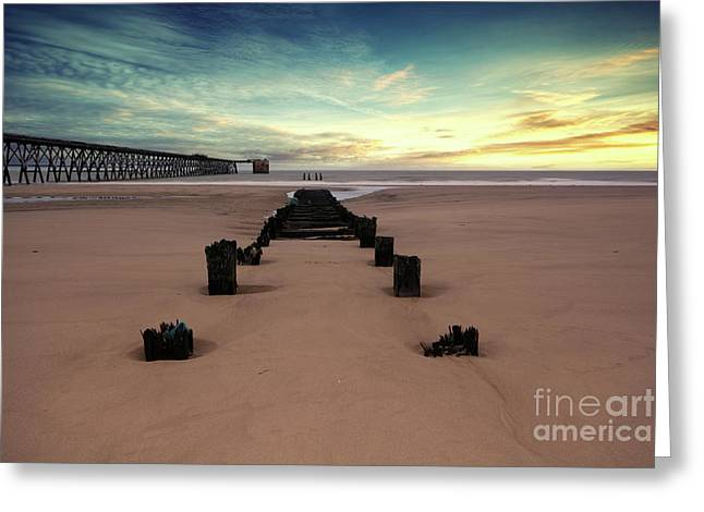 Steetly Pier Greeting Card by Stephen Smith