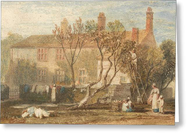 Steeton Manor House Near Farnley Greeting Card by Joseph Mallord William Turner