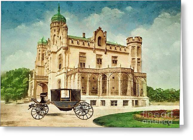 Stein Greeting Cards - Stein Palace Greeting Card by Mo T