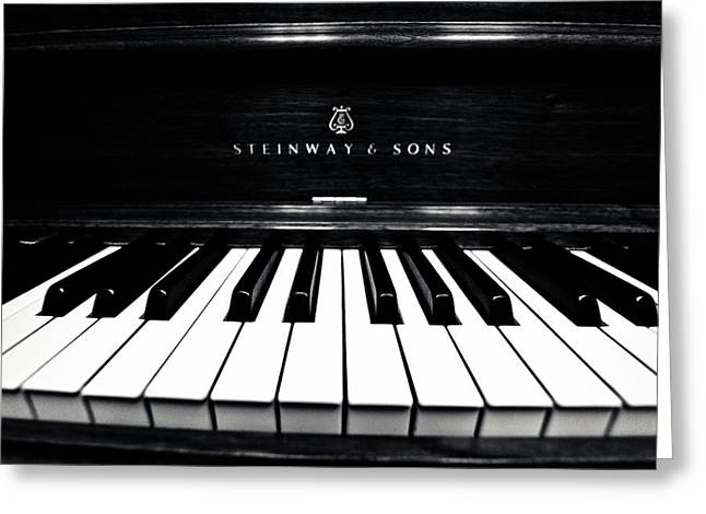 Steinway And Sons Greeting Card by Sam Hymas