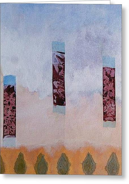Abstract Digital Paintings Greeting Cards - Stele Greeting Card by Matteo TOTARO