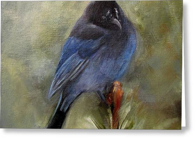 Stellar of a Bird Greeting Card by Mary St Peter
