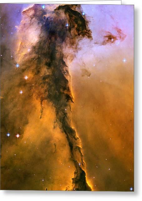 Star Birth Greeting Cards - Stellar Spire in the Eagle Nebula Greeting Card by Nicholas Burningham