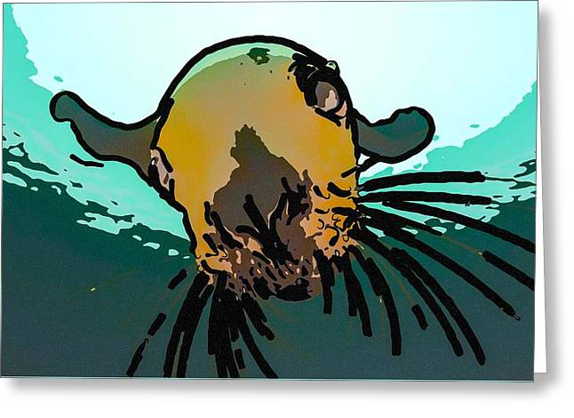 Steller Sea Lion Greeting Card by Lanjee Chee
