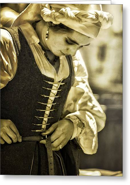 Renaissance Fairs Greeting Cards - Step back in time Greeting Card by Camille Lopez