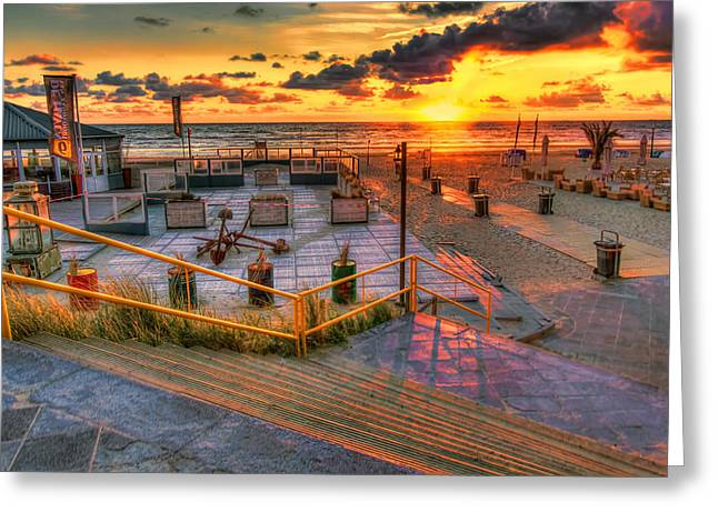 Walkway To The Beach Greeting Cards - Step into the Sea Greeting Card by Nadia Sanowar