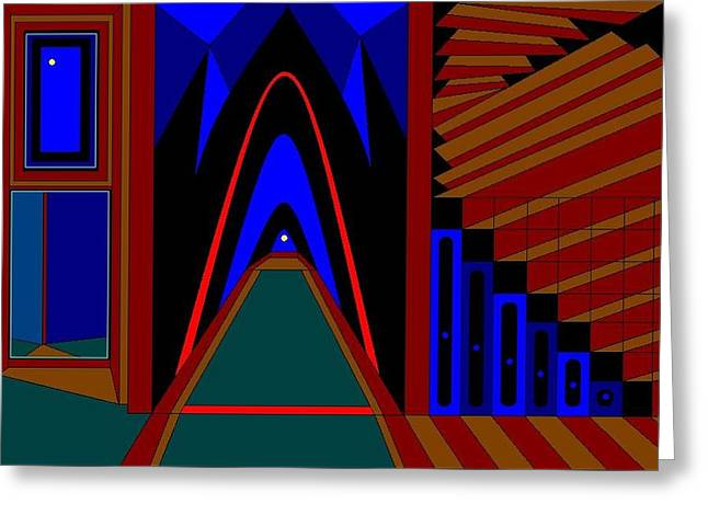 Absorb Paintings Greeting Cards - Step Through. Step Over. Step Up To.   Greeting Card by Richard Magin