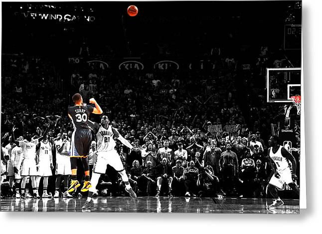 Steph Curry Its Good Greeting Card by Brian Reaves