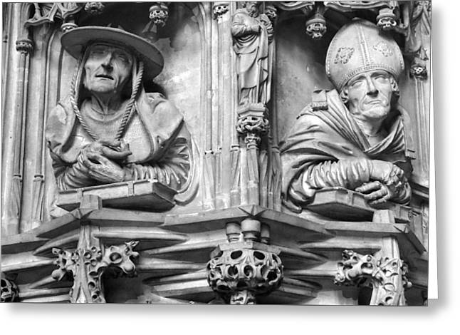 Stephansdom Pulpit Detail Greeting Card by C H Apperson