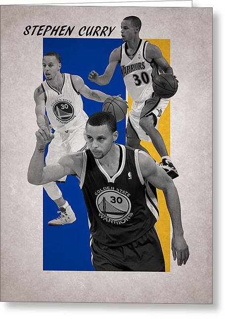 Stephen Curry Golden State Warriors Greeting Card by Joe Hamilton